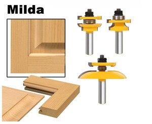 Image 1 - 3 шт., набор фрез с хвостовиком 1/2 дюйма, электроинструмент, нож для двери, резак по дереву