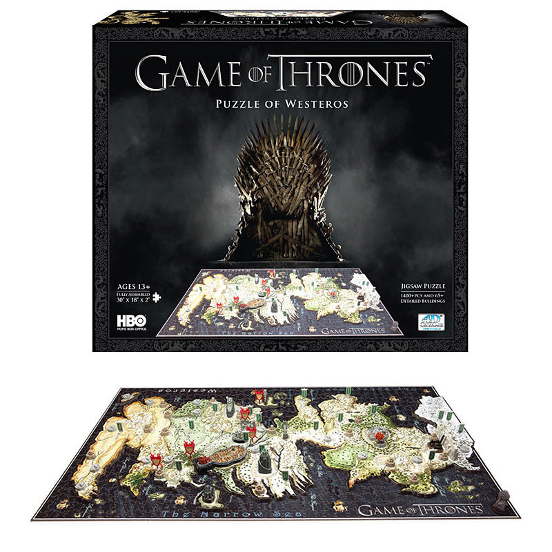 Game of Thrones 3D model puzzles magic cubes hama perler beads jigsaw kids games pegboard stadium
