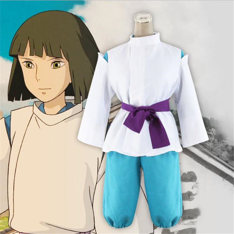 BOOCRE Anime Spirited Away Cosplay Nigihayami Kohakunushi Costumes Four Piece Suit Performance Show Clothing