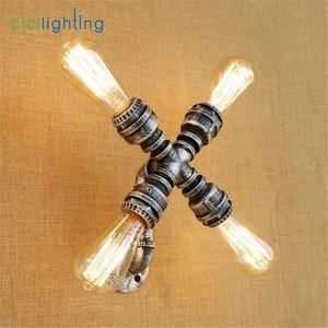 Image 4 - Aplique rústico Industrial de estilo Edison E27, lámpara de pared, accesorio de montaje