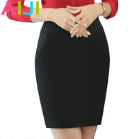 AIJI Fashion Women Skirt For Spring Summer OL Formal Office Ladies Mini Short Skirts Plus Size