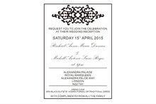 font b Customized b font 5 7inch clear acrylic wedding font b invitation b font