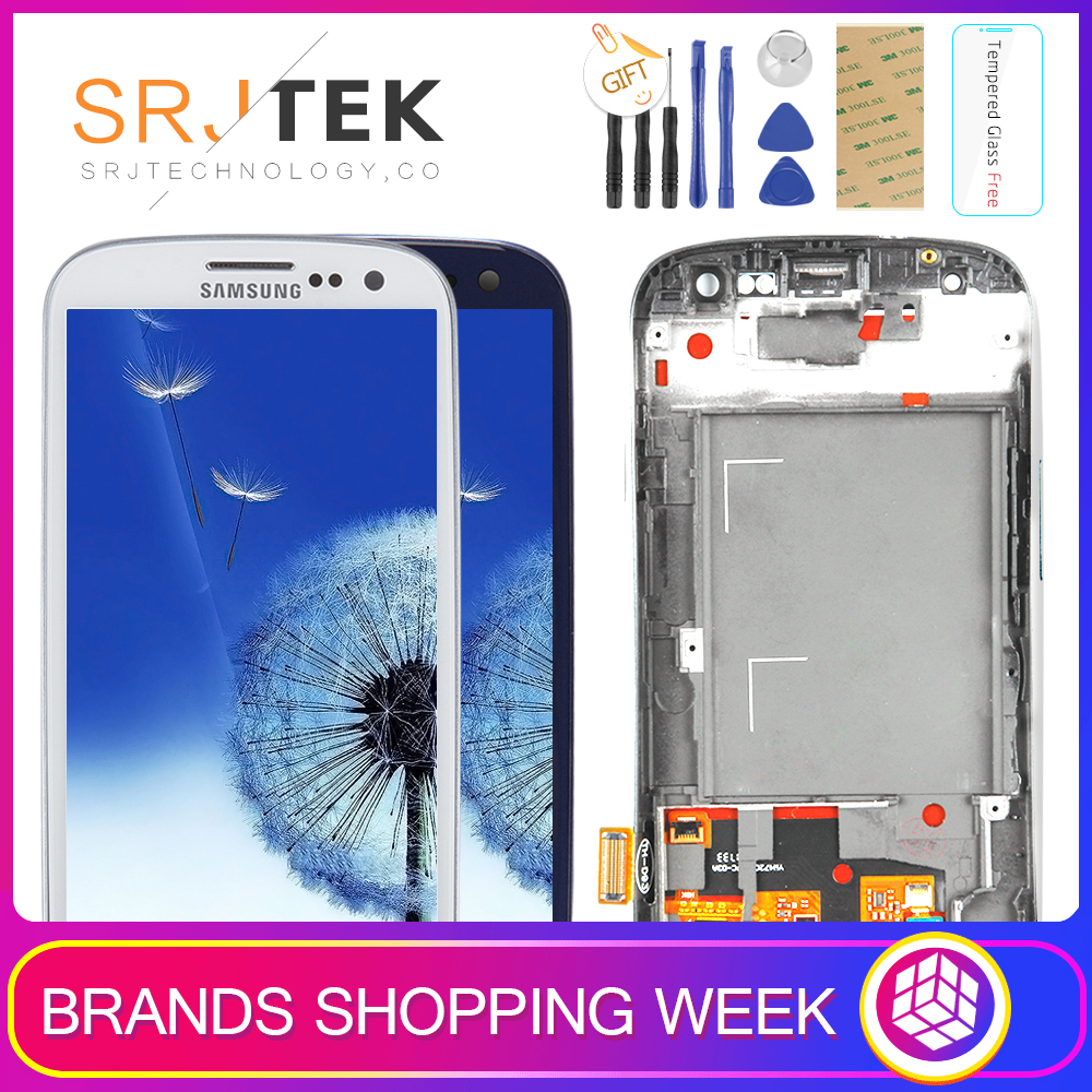 TESTATO Per SAMSUNG Galaxy S3 Display i9300 i9300i di Tocco Digitale Dello Schermo di Ricambio Per SAMSUNG Galaxy S3 Schermo LCD