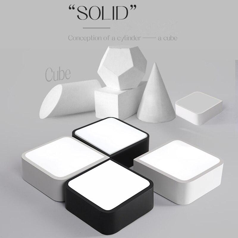 ФОТО Modern Led Ceiling Lights Creative DIY Acrylic Shade Led Iuminaire Indoor Lighting Black / White Lustre Led Ceiling Lamp Fashion