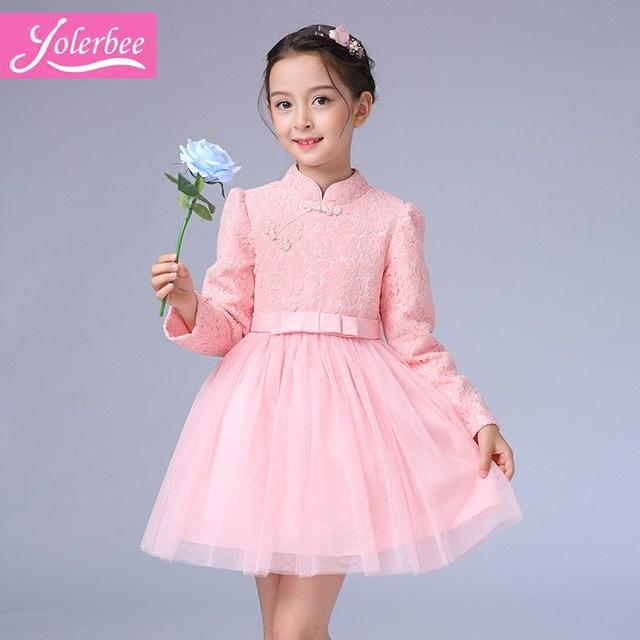 69a1fb9a17 Dziewczyna Sukienka Na Wesele Koronki Dziewczynka 3-12 Lat Stroje Dla Dzieci  Dziewczyny Pierwsza Komunia