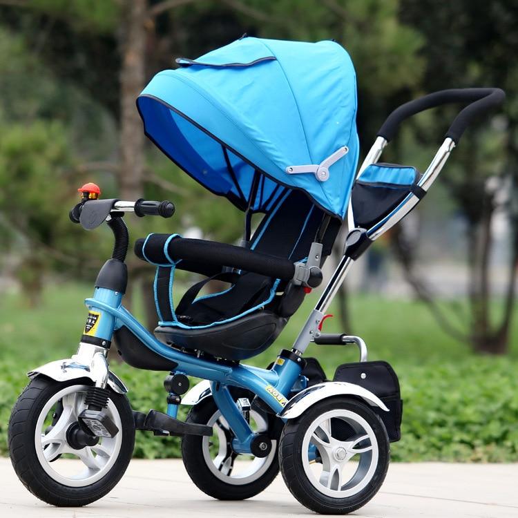 Tricycle pour enfants 3 roues vélo bébé landau siège 360 degrés Rotation poussettes pour enfants Push Trolley bébé vélo 1-6y