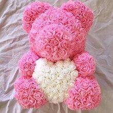 2018 подарок на день Святого Валентина 22 PE Forever love Rose Bear для свадебного подарка подарок подруге юбилейный подарок (Бесплатная Настройка ленты галстук)
