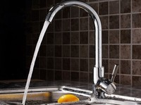 Kitchen Sink Faucet With Plumbing Hose 100 Solid Brass Two Spouts Kitchen Mixer Tap FREE SHIPPING