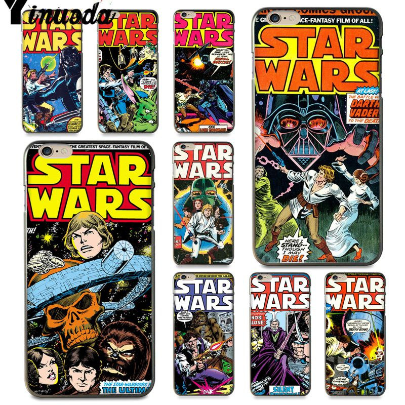 Yinuoda For iphone 7 6 X Case star wars marvel comics Drawing Painting Phone Case for iPhone X 6 7 6s 7plus 8 8Plus 5 5S 5C SE image