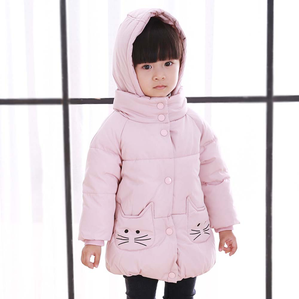 Baby Toddler Girls Down Coat Winter Thick Warm Kids Duck Down Snowsuit Cotton Long Sleeve Hooded Outwear Jackets Girl Coat YB182 winter baby snowsuit baby boys girls rompers infant jumpsuit toddler hooded clothes thicken down coat outwear coverall snow wear
