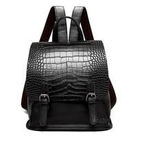 Bolsa feminina двухместный сумка рюкзак для 2017 Новинка крокодиловый принт модные мини-воздействие Винтаж