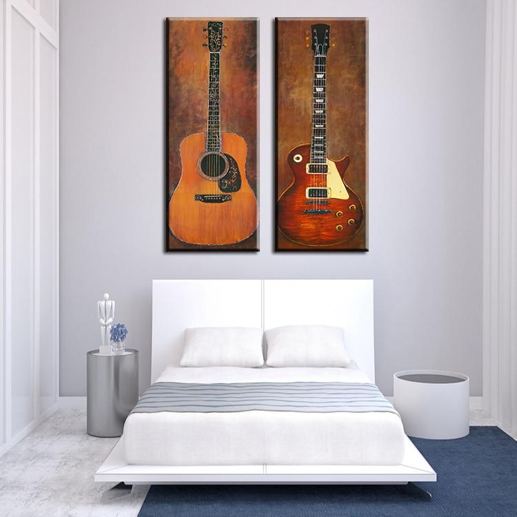 Aliexpress.com : Buy 2 piece music studio room guitar top decorative ...
