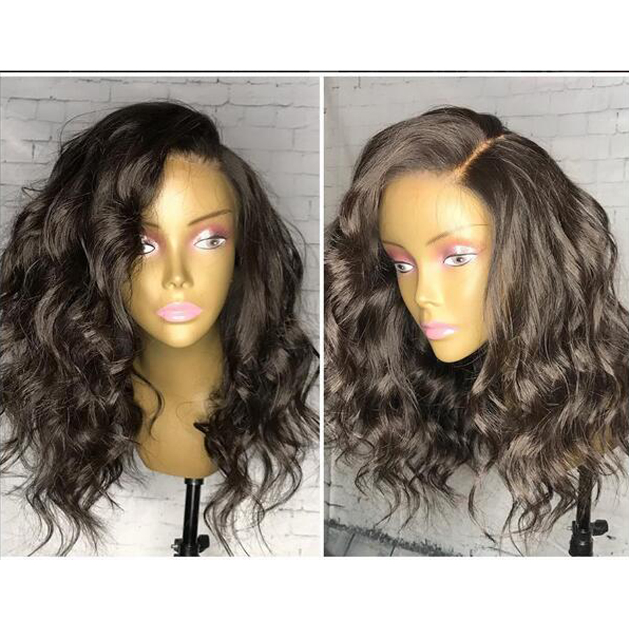 Short Curly Lace Wig Water Wave Front Wigs