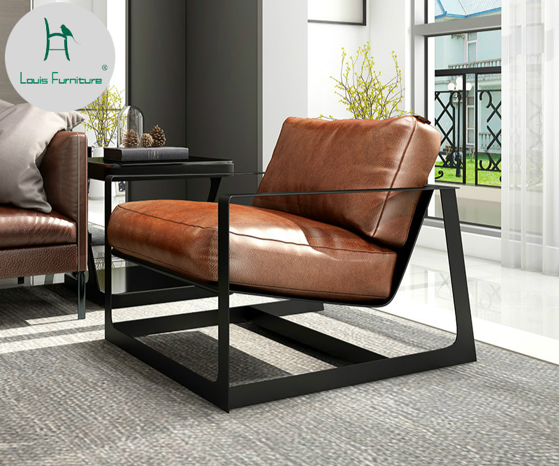 Brilliant Us 416 0 Louis Fashion Living Room Chair Nordic Bedroom Single Personality Modern Simple Leather Living Room In Living Room Chairs From Furniture On Creativecarmelina Interior Chair Design Creativecarmelinacom