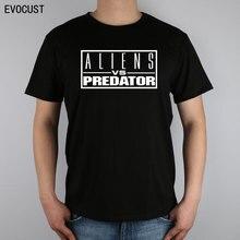 Avp Alien vs Predator Science Fiction T-shirt Top Lycra Cotton Men T shirt