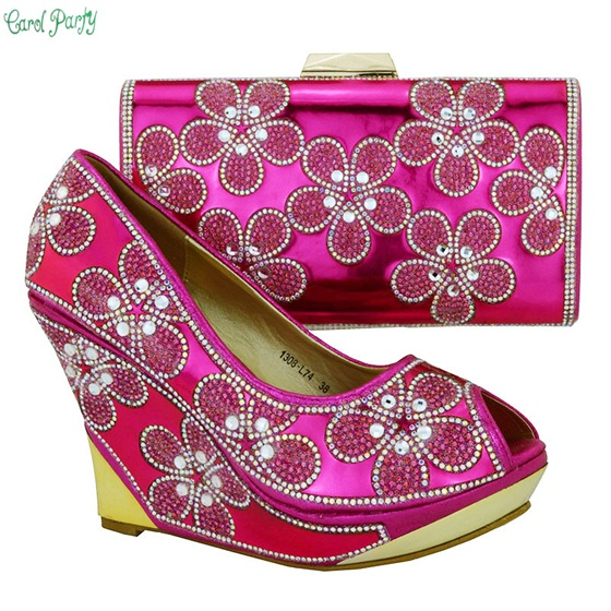 Italian Design Shoes And Matching Bags For Wedding And Party New African Shoes And Bag Sets Woman 1308-L74 african fashion shoes with matching bag set for wedding party italian design nigeria women pumps shoes and bags mm1060