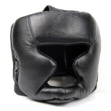 Акция! Черная защитная Экипировка для головы, тренировочный шлем для кикбоксинга