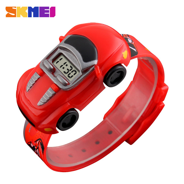 SKMEI Children Cartoon Creative Digital Watches Kids Fashion Car Black Outdoor W