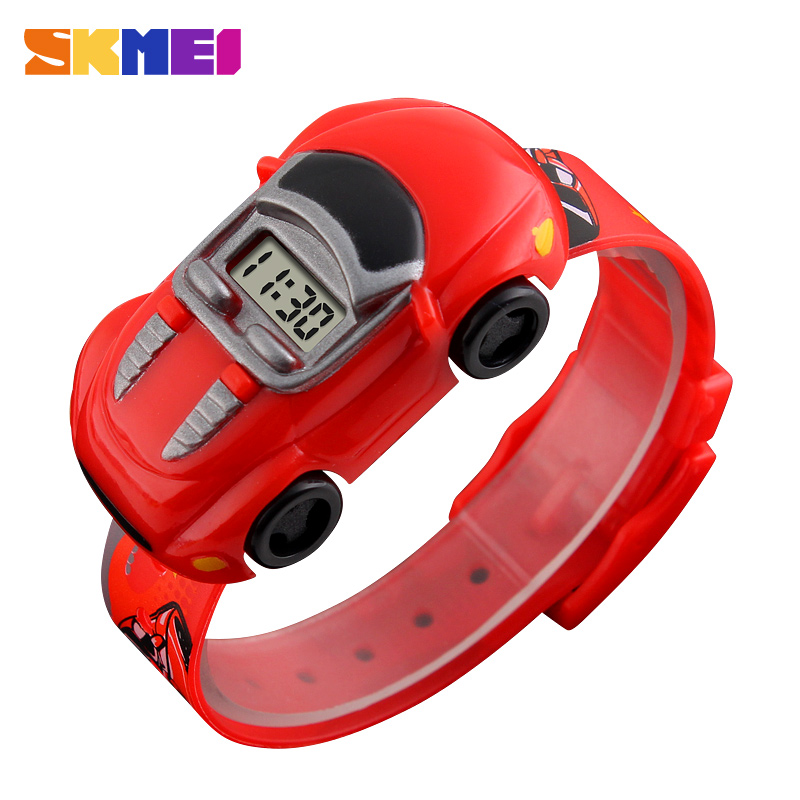 SKMEI Kids Watch Boys Creative Cartoon Children Watches Date Time Car Clock Colorful Suitable Montre Enfant Garcon Girl 1241
