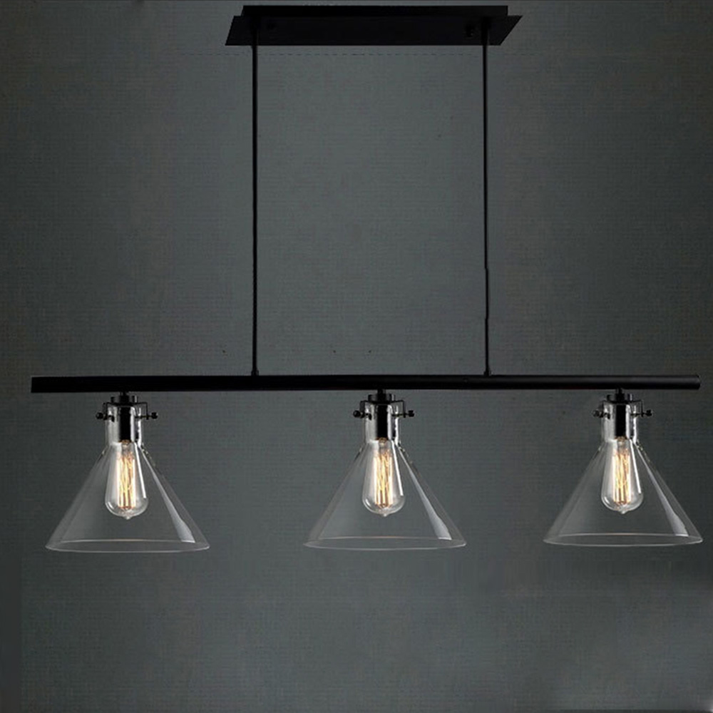Loft Vintage Led Pendant Lights RH Bar Lamps Nordic Industrial Pendant Lamps E27 Bulb glass 110V/220V Home Lighting ZDD0072