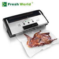 Commercial Best Food Vacuum Sealer Machine Automatic Continuous Inflatable Black Small Industrial Machinery Sealer Vacuum Packer