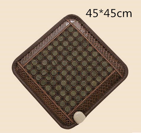 Jade net surface heating pad germanium stone mat ms tomalin ochre buffer office massage cushion 2016 heat electric heating jade stone massage pad cushion cover wholesale china supplier 3 size for you choice