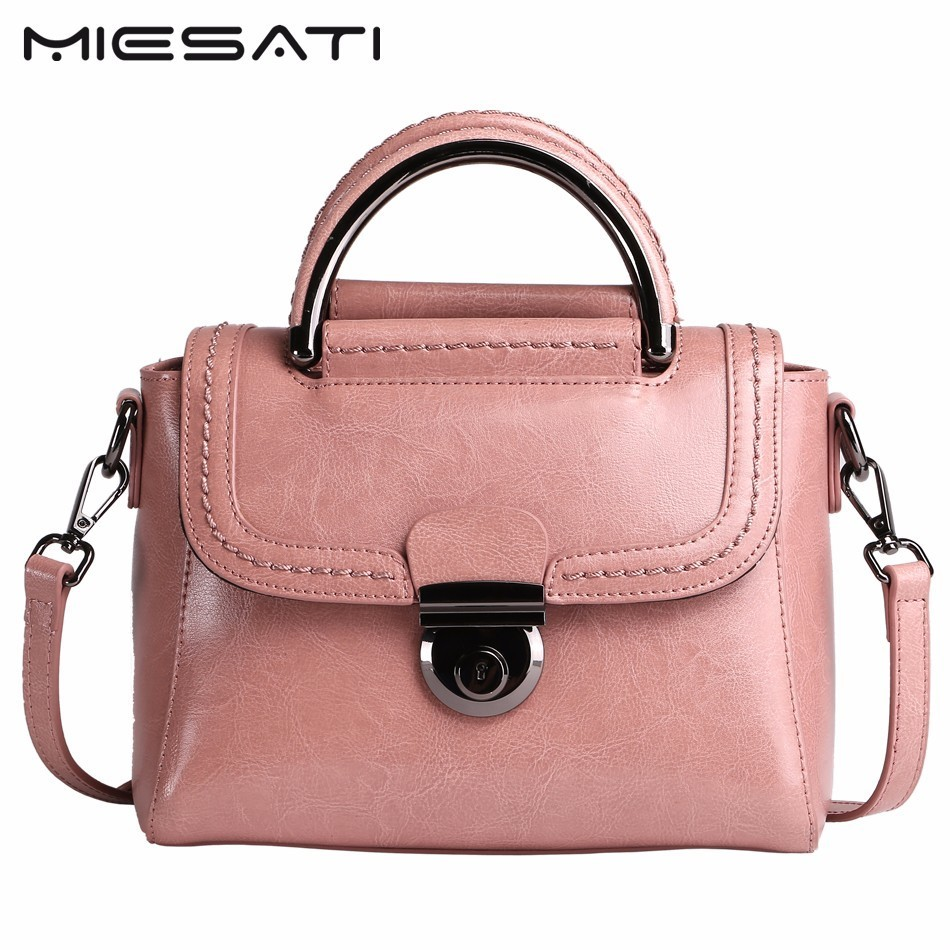 MIESATI Fashion Bags Handbags Women Famous Brands Genuine Leather Small Flap Bags Ladies Cover Shoulder Messenger Bags Sac Femme