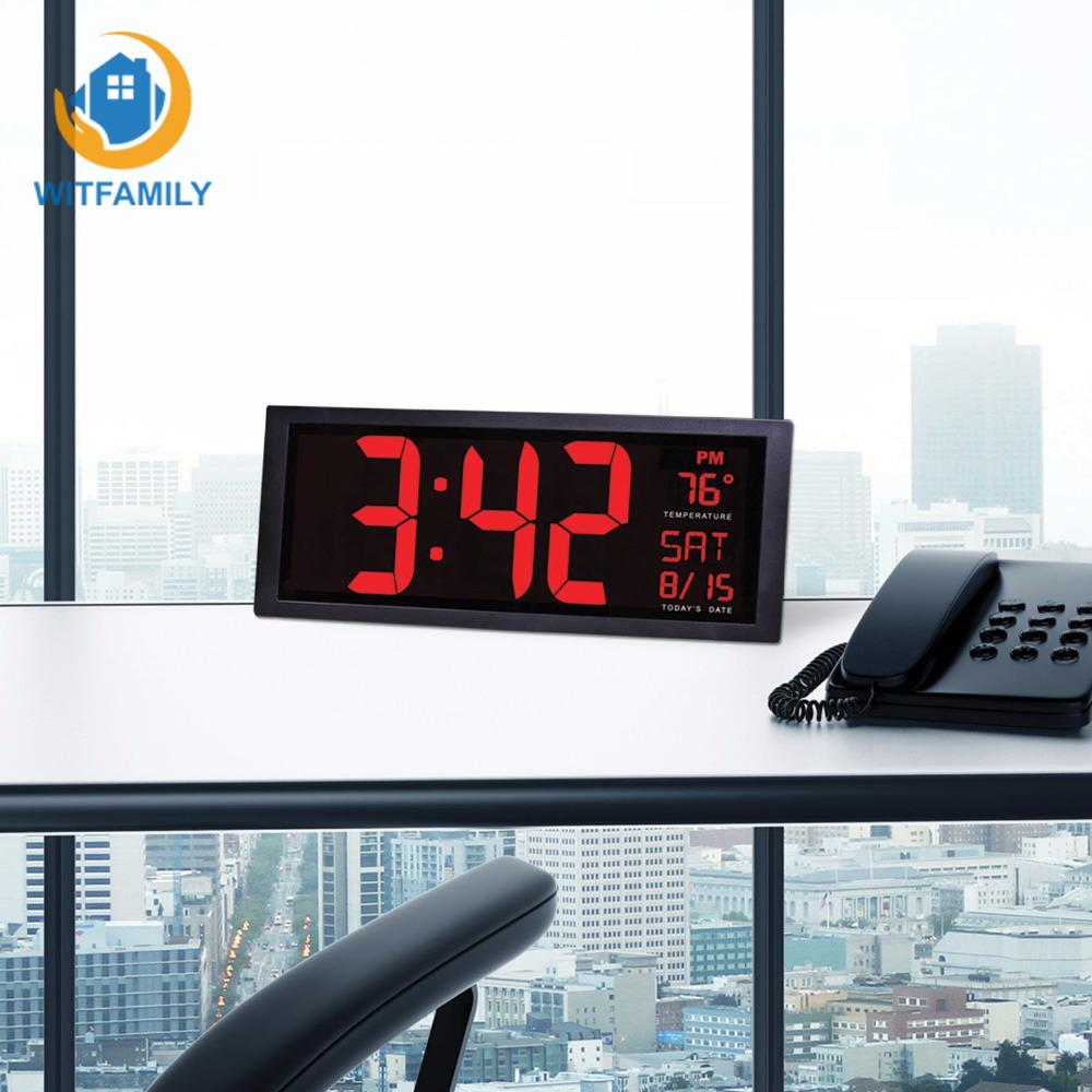 Calendario Elettronico.Dettagli Su Desktop Led Digitale Calendario Orologio 14 Zoll Elettronico Parete Grande