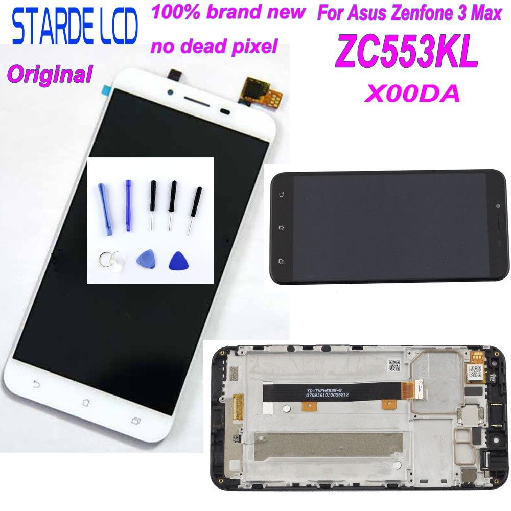 Starde LCD pour Asus ZenFone 3 Max ZC553KL X00DA LCD écran tactile numériseur assemblée avec cadre et outils gratuits