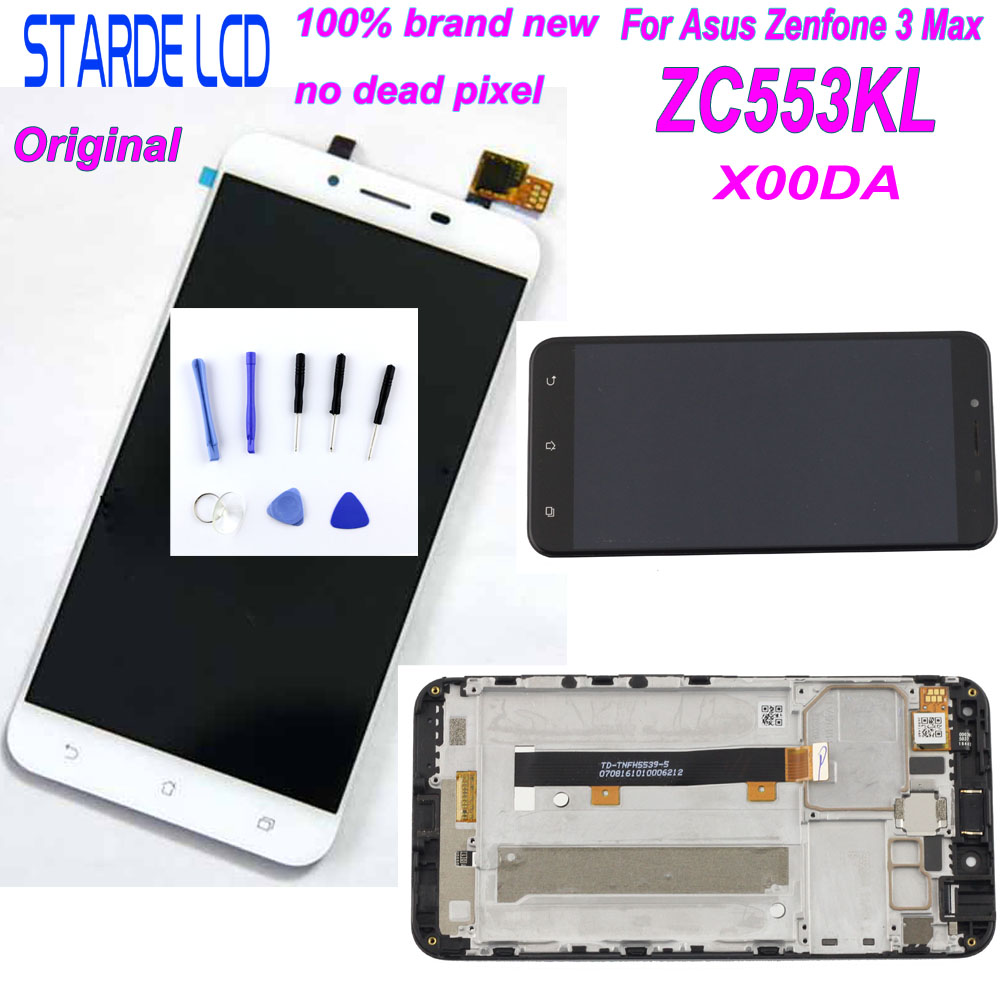 Starde LCD for Asus ZenFone 3 Max <font><b>ZC553KL</b></font> X00DA LCD <font><b>Display</b></font> Touch Screen Digitizer Assembly with Frame and Free Tools image