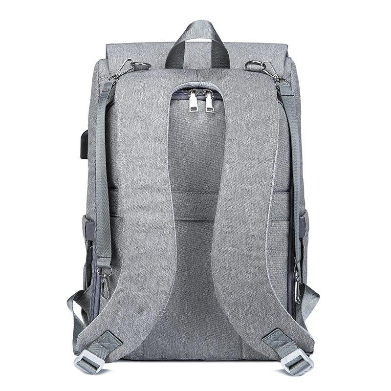 Bolsa de pañales con interfaz USB gran bebé pañal bolsa de momia maternidad mochila de viaje para mamá de bolsas - 4
