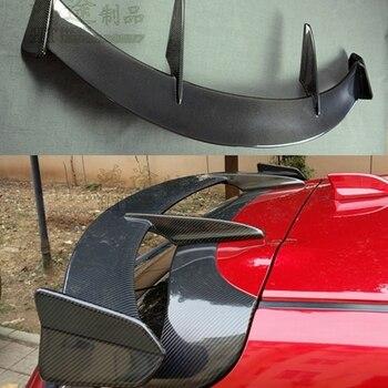 탄소 섬유 외관 리어 스포일러 테일 트렁크 부츠 윙 장식 자동차 스타일링 마즈다 3 CX-3 axela hatchback 2014-2017