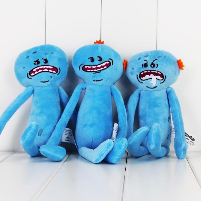 Retail 25cm Rick And Morty Stuffed Plush Toys Happy Sad Meeseeks Soft Dolls Great Kids Christmas Gift