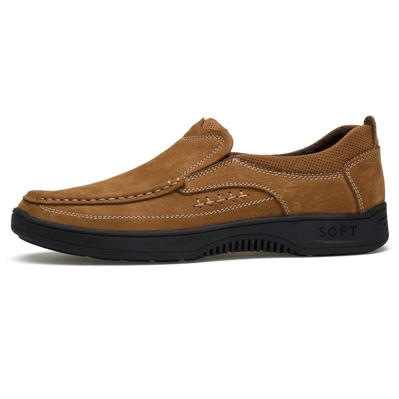 Couro Borracha Livre Brown dark Casuais Impermeáveis Ar Outono cáqui De Dropshipping Ao Sapatos Dos Brown Genuíno Caminhada Yellow Tênis Homens TwRYUOxvq