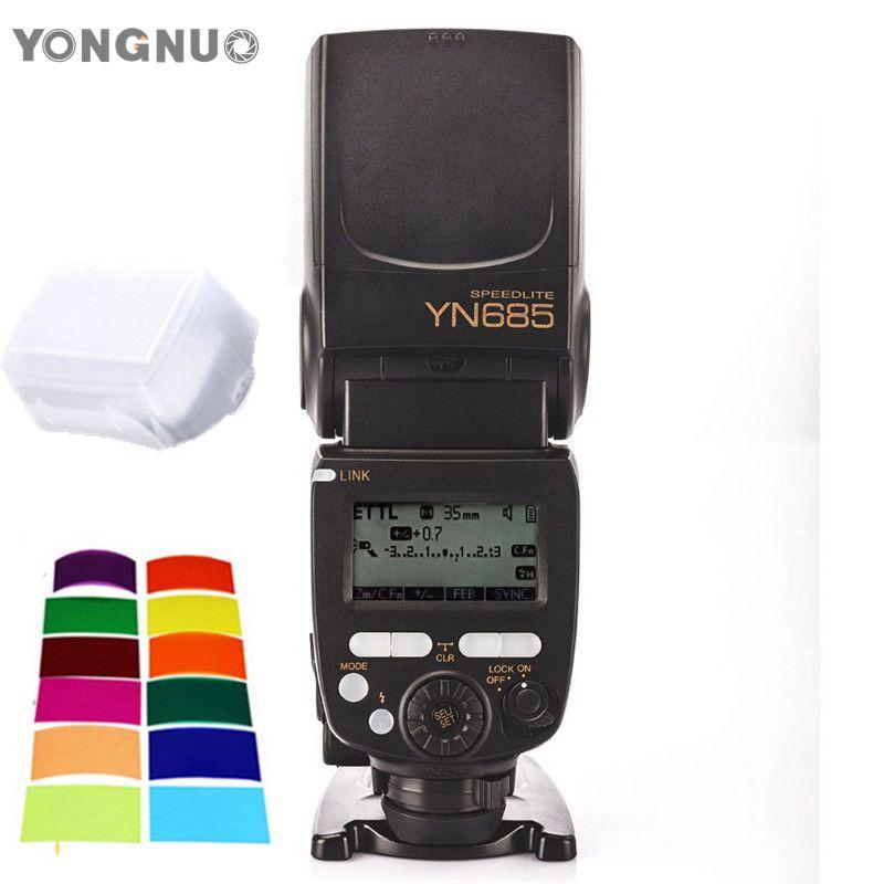 YONGNUO YN685 YN-685 Wireless HSS 2.4G System i-TTL Speedlite Flash Support YN560IV YN560-TX RF605 RF603II for Canon 650D 600D yongnuo yn 560 iv yn560 wireless ttl hss master radio flash speedlite 2pcs rf 605c rf605 lcd wireless trigger for canon camera
