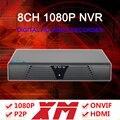 XM Progarm Hisiclion Sensor Sin botones 1080 P/960 P/720 P HD 8 Canales NVR Envío Gratis