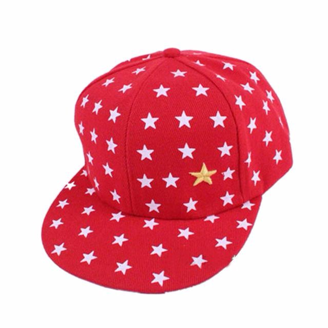 New Kids Baby Children Star Pattern Hip Hop Peaked Hat hiking cap uv outdoor camping hiking cap sport cap camping nt0