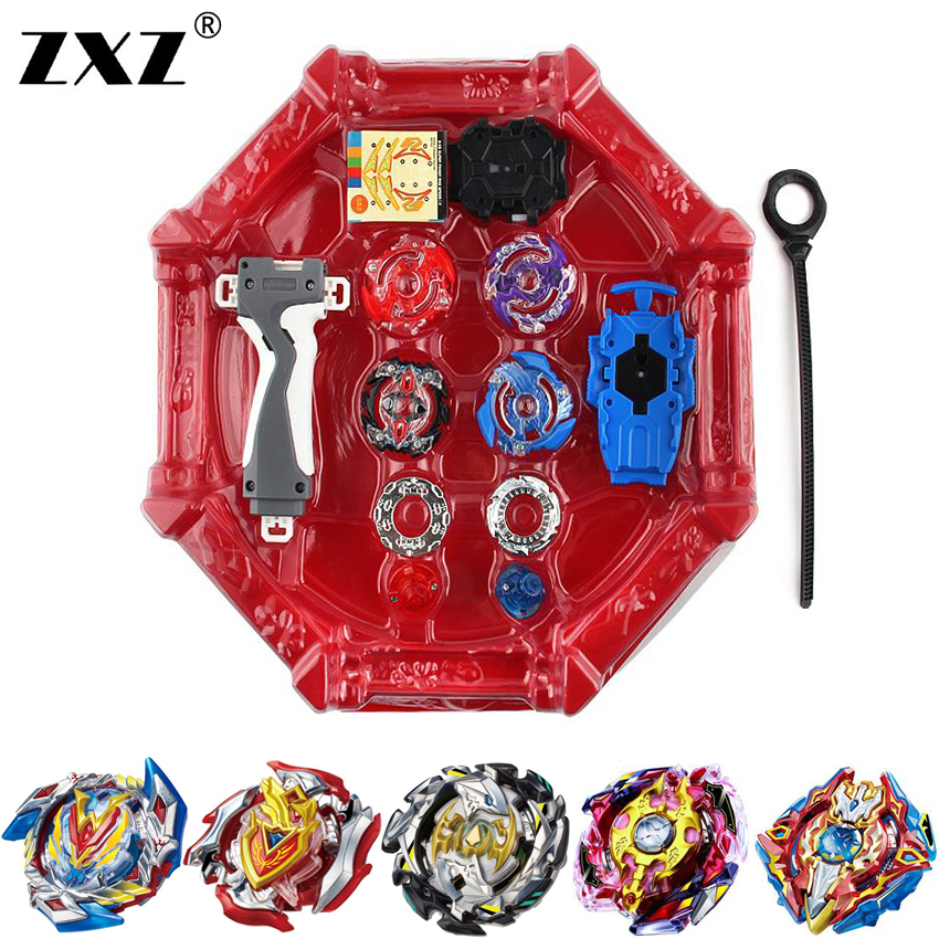 Free Shipping 4pcs set Beyblade Arena B97 B100 Spinning Top Metal Fight Beyblade B104 B105 Fusion Children Gifts Classic Toys