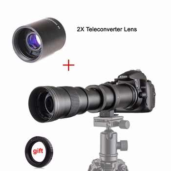 420-800mm F/8.3-16 Manual Super Telephoto Zoom Lens + 2X Teleconverter Lens for Canon Nikon Pentax Olympus Sony E Mount M4/3 - DISCOUNT ITEM  15% OFF All Category