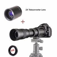 420 800mm F/8.3 16 Manual Super Telephoto Zoom Lens + 2X Teleconverter Lens for Canon Nikon Pentax Olympus Sony E Mount M4/3