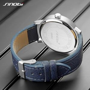 Image 4 - SINOBI reloj deportivo para hombre, cronógrafo de pulsera de cuarzo, militar, informal, de cielo misterioso