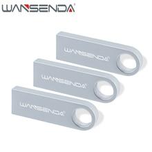 WANSENDA 128GB usb flash drive waterproof pendrive 64gb 32gb 16gb 8gb 4gb flash memory stick usb 2.0 metal pen drive print logo
