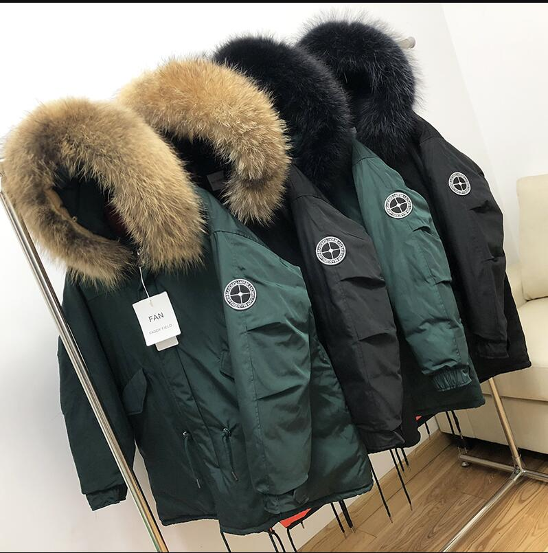 Big fur collar Winter Coat White Duck Down Men Jacket 2019 New Men's Loose Thicken Warm Jackets Hooded Down Jackets