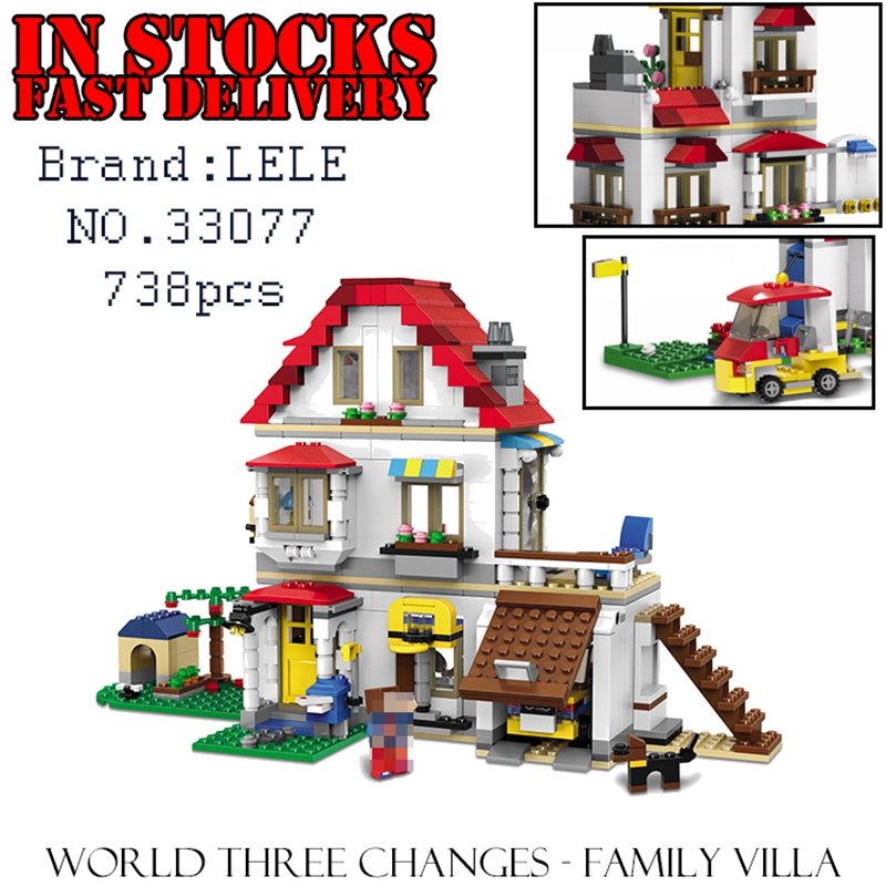 LELE Minecraft 33077 738pcs World Three Changes - Family Villa Building Block Brick enlighten toys for children gifts brinquedos xuankun zoomer motorcycle electric car accessories modified foot pedal plastic case shell