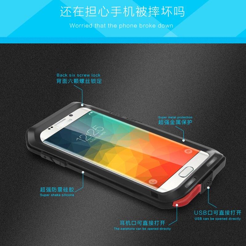 Étui de protection hybride blindé étui étanche Fundas boîtier étanche à l'eau/saleté/choc/pluie pour Samsung Galaxy s6 S6 edge Plus - 5