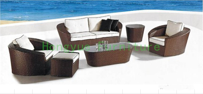 Garden outdoor sofa set furniture in wicker material Outdoor sofa