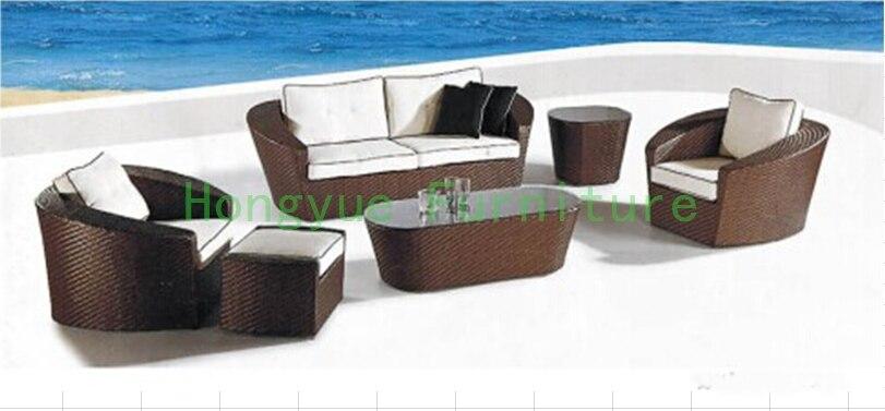 Giardino esterno divano set mobili in vimini materiale divano per ...