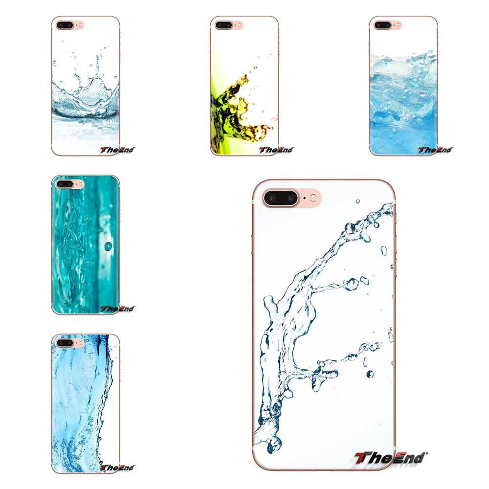 For Sony Xperia Z Z1 Z2 Z3 Z5 compact M2 M4 M5 C4 E3 T3 XA Huawei Mate 7 8 Y3II Soft Transparent Shell Covers Water Splash