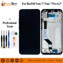 цена на 6.3 Inch For Xiaomi Redmi Note 7 LCD Display with Frame Touch Screen Digitizer For Xiaomi Redmi Note 7 LCD Screen Replacement