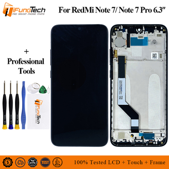 6.3 Inch For Xiaomi Redmi Note 7 LCD Display with Frame Touch Screen Digitizer For Xiaomi Redmi Note 7 LCD Screen Replacement